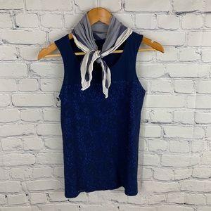 Gap tank blouse navy size xs
